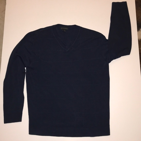 Via Europa Other - Via Europa Large, Navy V-Neck Sweater